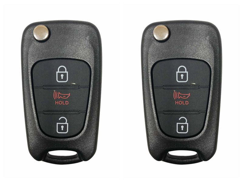 2 New Remote Keyless Flip Key Fob Case Uncut Blank Blade For KIA Soul 2012 2013