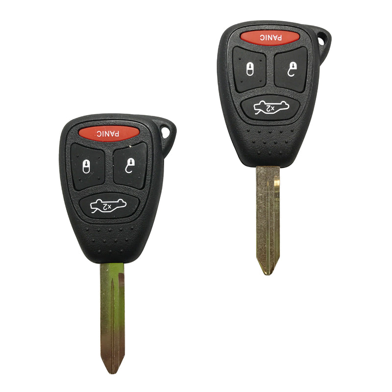 2 Remote Head Uncut Ignition Transponder Key Keyless Fob Combo For KOBDT04A