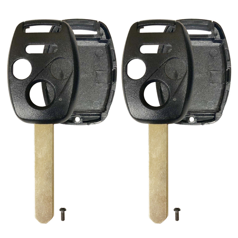 2 New replacement Remote Key Fob Shell Case for 04-12 Honda Accord Civic Pilot
