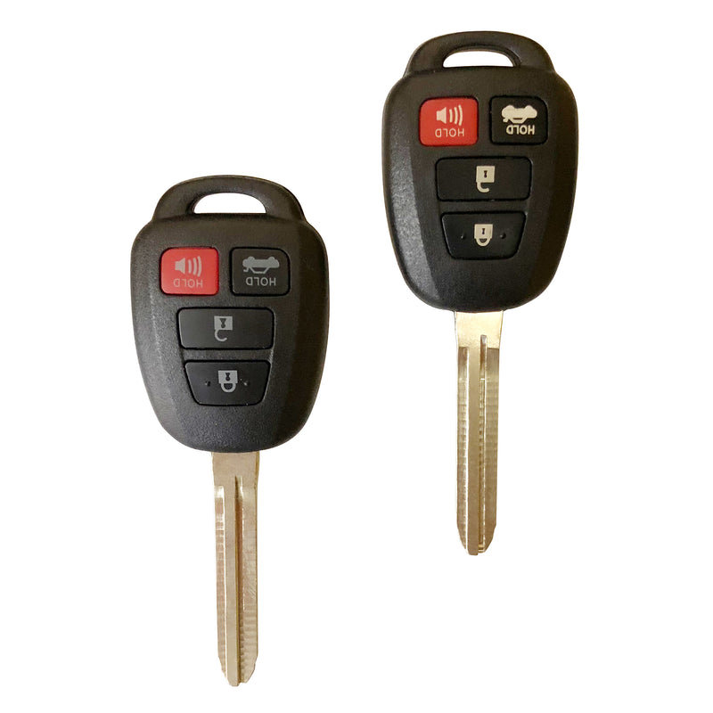 2 Replacement Key for 2014-2016 Toyota Camry Corolla Keyless Entry Remote Fob H