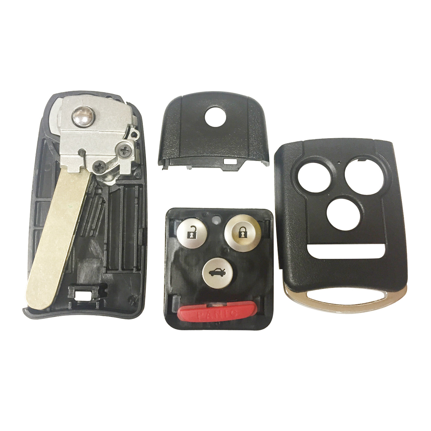 One New Replacement Keyless Entry Remote Flip Car Key Fob