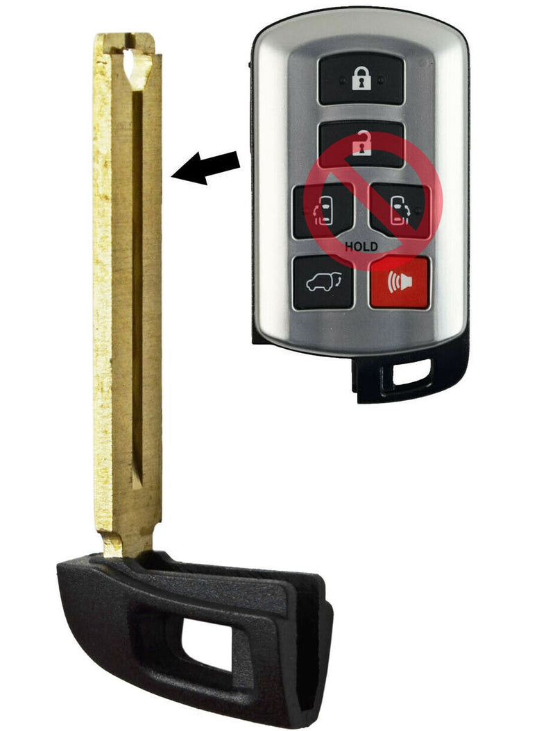 New Uncut Emergency Key for Toyota Sienna HYQ14ADR SKU: CK-T12