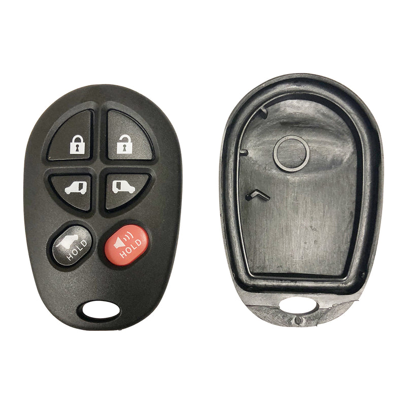 2New replacement Key Shell Case for 2004-2007 Toyota Sienna Keyless Entry Remote