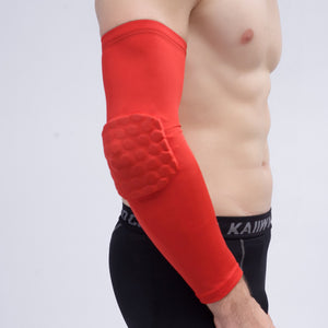 1pcs Mens Breathable Elastic Arm Warmers Support Basketball BraceElbow Pads