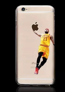 NBA player Cover For iPhone 7 iPhone8 Case Clear Silicon   Basketball Apple