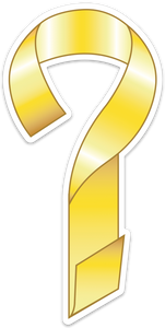 Yeller Ribbon Decal