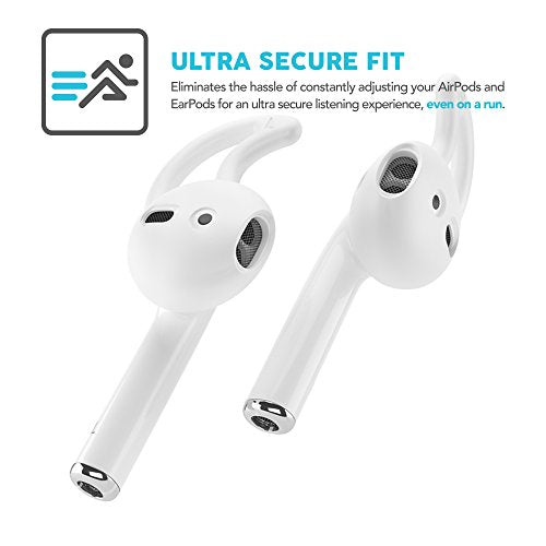EarBuddyz 2.0 Apple Airpods and EarPods Covers and Hooks Attachment for iPhone Earphones Headphones Earbuds - Clear (2 Pairs): Electronics