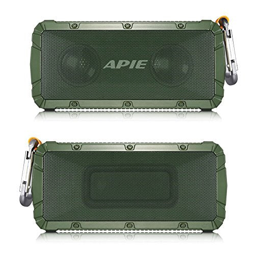 APIE Portable Wireless Outdoor Bluetooth Speaker IPX6 Waterproof Dual 10W Driversf , Enhanced Bass, Built in Mic,water Resistant,Beach, Shower & Home: Electronics
