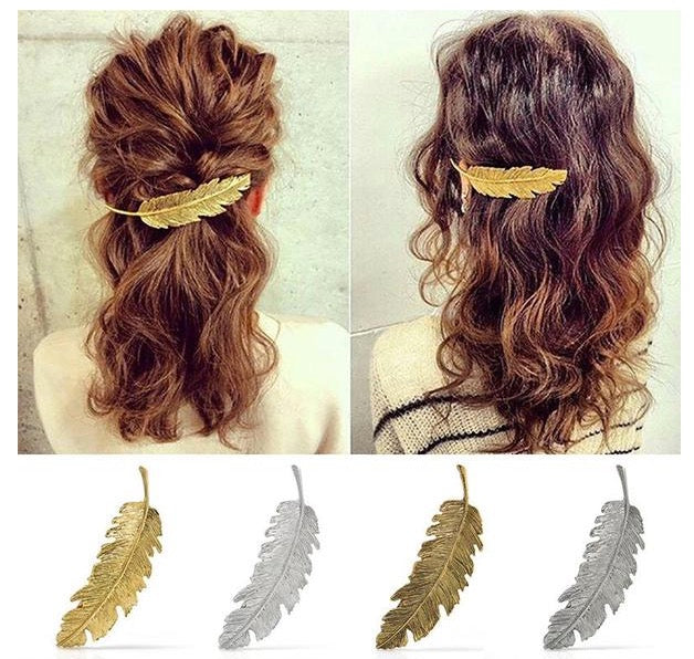 Vintage Style Feather Hair Clip
