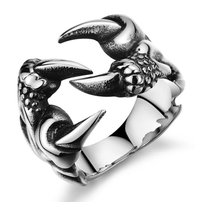 Titanium Dragon Claw Ring
