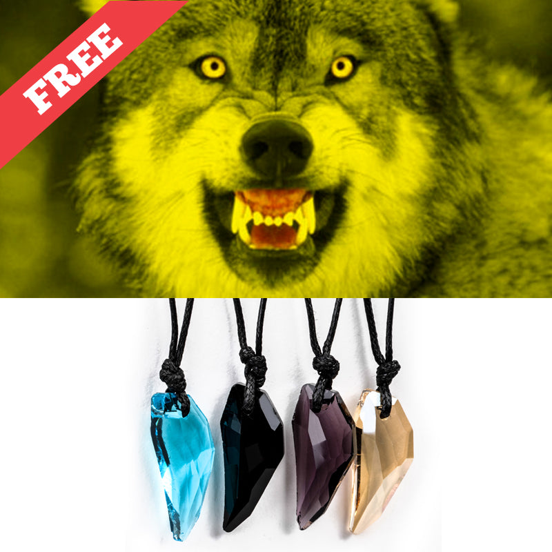 **FREE** VINTAGE AUSTRIAN CRYSTAL WOLF FANG NECKLACE