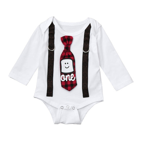 ONE Birthday Tie Onesie