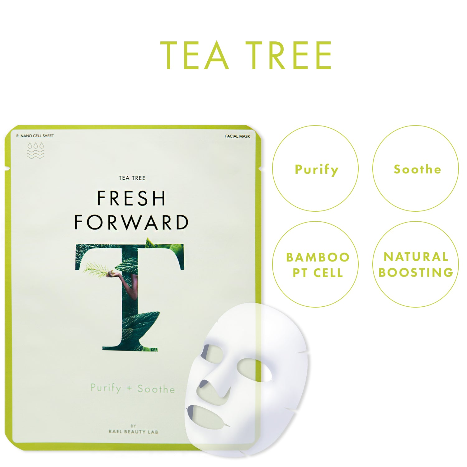 FRESH FORWARD Face Mask Sheet With Tea Tree Oil (5 Masks)