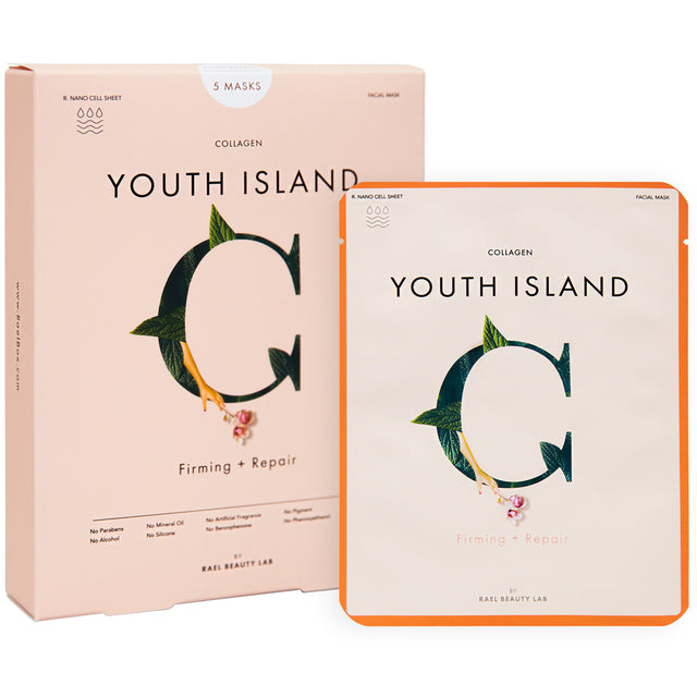 YOUTH ISLAND Face Mask Sheet With Collagen (5 Sheets)