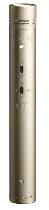 Rode NT55 Compact Condenser Microphone with Interchangeable Capsules, Single Mic (NT-55) 10 Years Warranty [Made in Australia]