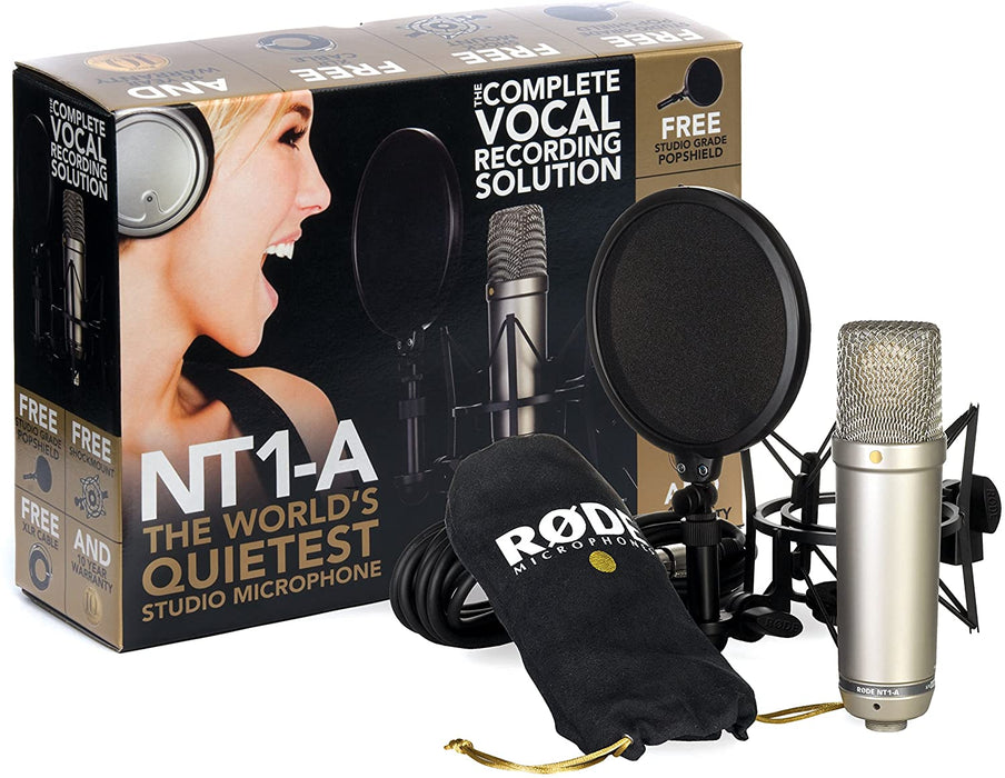 Rode NT1-A Condenser Microphone (NT1A) 10 Years Warranty [Made in Australia] *Everyday Low Prices Promotion* - Music Bliss Malaysia
