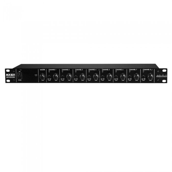 ART MX821 Eight Channel Personal Mixer w/ EQ, FX, & Direct Outs - Music Bliss Malaysia