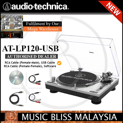 Audio Technica AT-LP120-USB Direct-drive Professional Turntable (ATLP120USB)