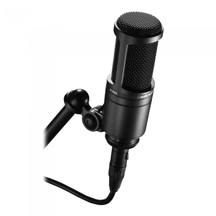Audio Technica AT2020 Cardioid Condenser Microphone with Mic Stand, Pop Filter and 3m Cable (AT-2020) *Crazy Sales Promotion*