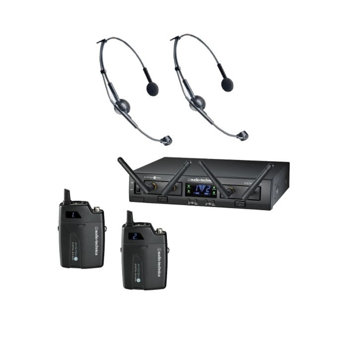 Audio Technica ATW-1311/ATM75cW System 10 Pro (Rack-Mount System) with 2 x ATM75cW Headworn Microphone Wireless System (Audio-Technica ATW1311) *Crazy Sales Promotion*