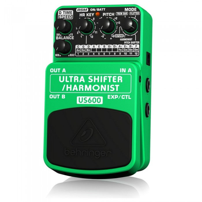 Behringer US-600 Ultra Shifter/Harmonist Guitar Effects Pedal (US600) - Music Bliss Malaysia
