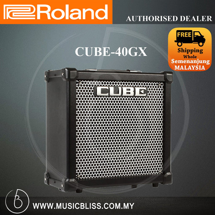 Roland CUBE-40GX 40-watt 1x10 COSM Combo Amplifier with FX (CUBE40GX)