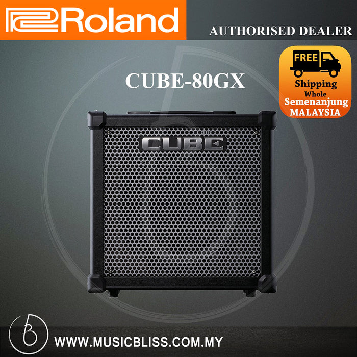 Roland CUBE-80GX 80-watt 1x12 COSM Combo Amplifier with FX (CUBE80GX) - Music Bliss Malaysia