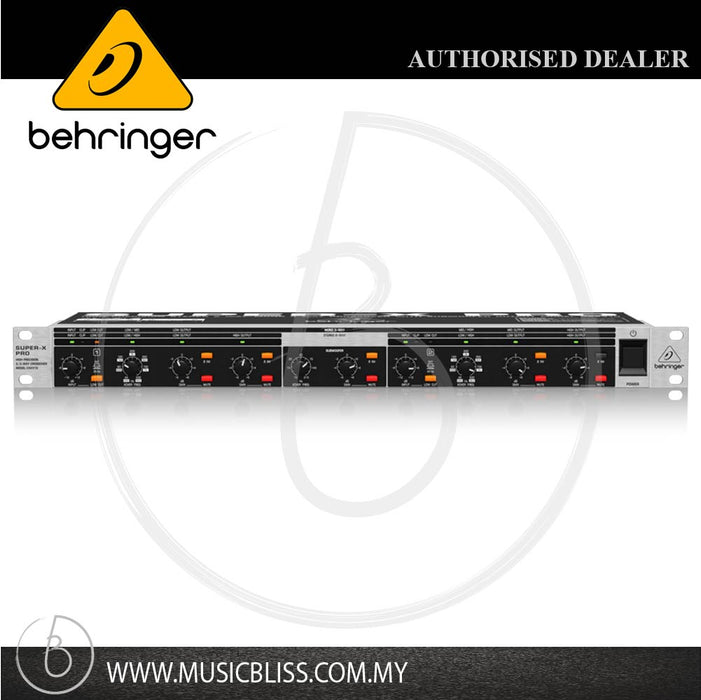 Behringer Super-X Pro CX2310 Stereo 2-way/Mono 3-way Crossover (CX-2310) - Music Bliss Malaysia