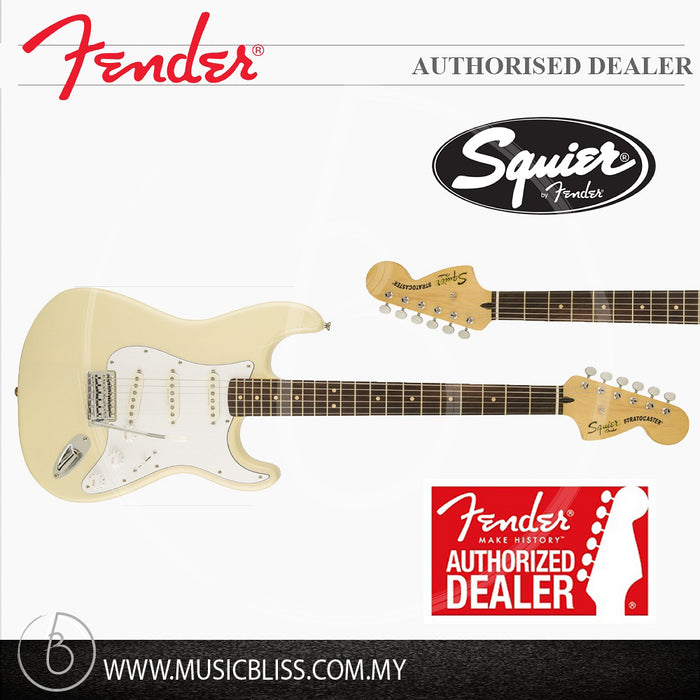 Fender Squier Vintage Modified Stratocaster Electric Guitar, Rosewood  Fingerboard (Vintage Blonde) | Music Bliss Malaysia