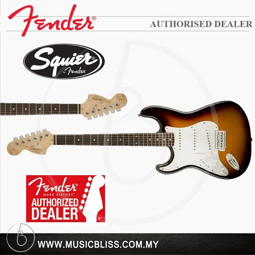 Fender Squier Affinity Series™ Stratocaster®, Left-Handed, Rosewood Fingerboard-Brown Sunburst