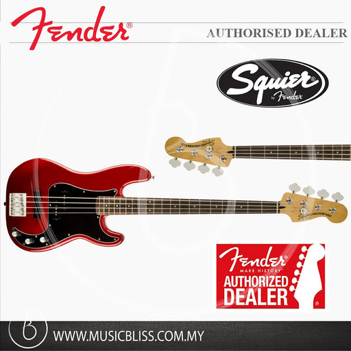 Fender Squier Vintage Modified Precision Bass PJ Guitar, Laurel Fingerboard (Candy Apple Red)
