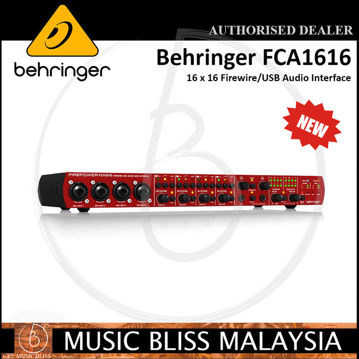 Behringer FCA-1616 16x16 Firewire/USB Audio Interface (FCA1616) - Music Bliss Malaysia