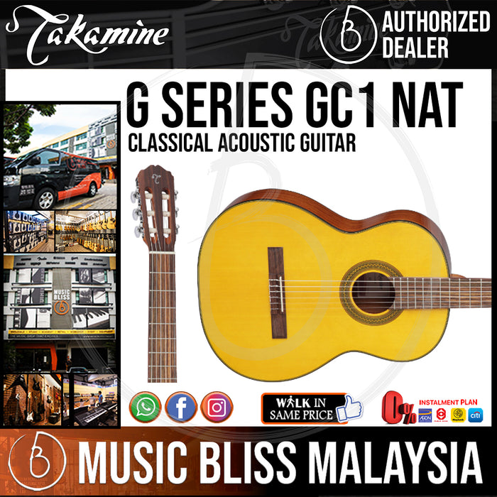 Takamine GC1 - (Natural) Nylon-string Classical Acoustic Guitar with Spruce Top