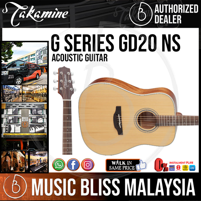 Takamine GD20 - (Natural) 6-string Acoustic Guitar with Solid Cedar Top
