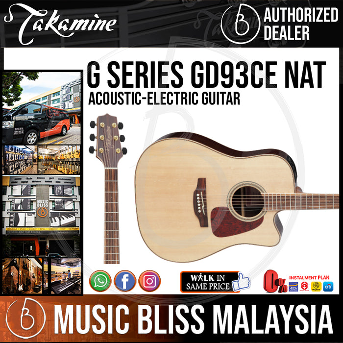 Takamine GD93CE - (Natural) 6-string Acoustic-Electric Guitar with Solid Spruce