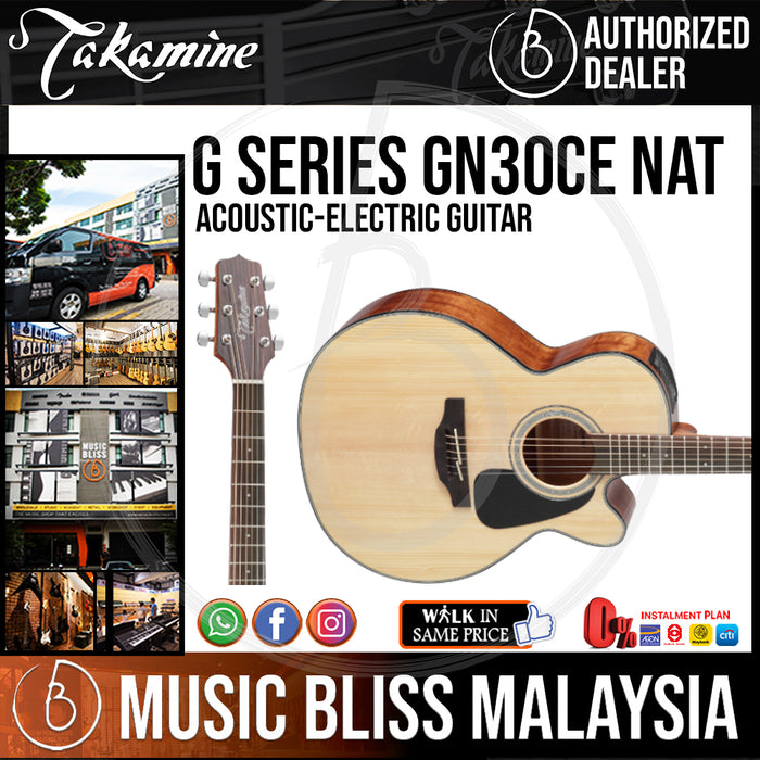 Takamine GN30CE - (Natural) 6-string Acoustic-Electric Guitar with Solid Spruce Top - Music Bliss Malaysia