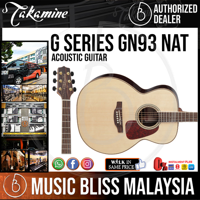 Takamine GN93 - (Natural) 6-string Acoustic Guitar with Solid Spruce - Music Bliss Malaysia
