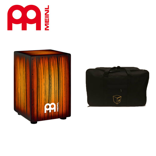 Meinl HCAJ2AMTS Headliner Series String Cajon with Bag- Amber Tiger Stripe