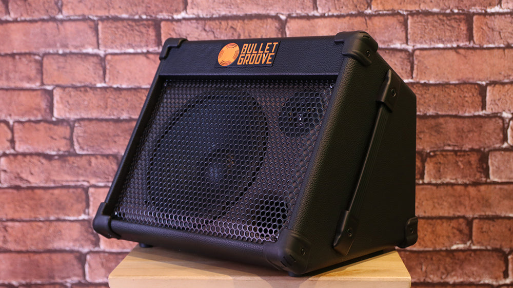 Bullet Groove BP40 Acoustic Amplifier with USB and Bluetooth connection for Acoustic Guitars, Singing/Vocals & Piano Keyboards (BP-40 USB/Bluetooth Acoustic Amp)