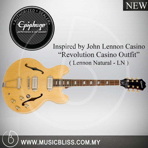 Epiphone Inspired by John Lennon 1965 Casino Hollowbody Guitar - Lennon Natural