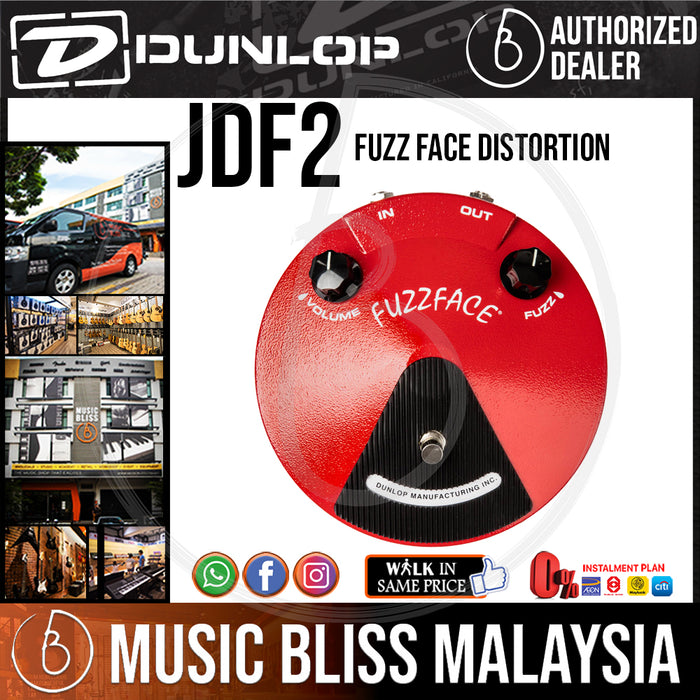 Jim Dunlop JDF2 Classic Fuzz Face Pedal (JDF-2 / JDF 2) *Crazy Sales Promotion* - Music Bliss Malaysia