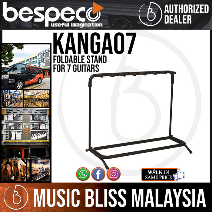 Bespeco KANGA07 Foldable Stand for 7 Guitar - Music Bliss Malaysia