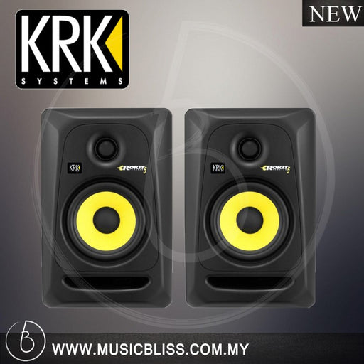 KRK RP5G3 Rokit Powered 5 Generation 3 Active Studio Monitor, Black (Pair)