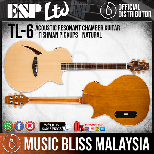 ESP LTD TL-6 Thinline Series Acoustic-Electric Guitar - Natural (TL6NAT)