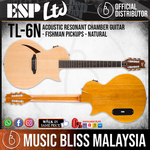 ESP LTD TL-6N Nylon-String Thinline Series Acoustic-Electric Guitar - Natural (TL6NNAT)
