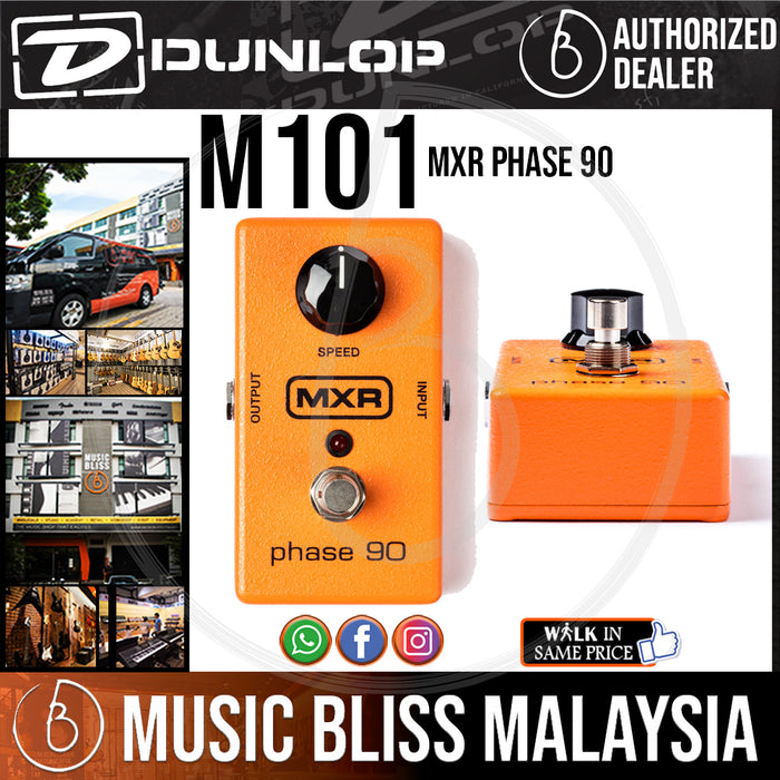 Jim Dunlop MXR M101 Phase 90 Phaser Pedal (M-101 / M 101) *Crazy Sales Promotion* - Music Bliss Malaysia