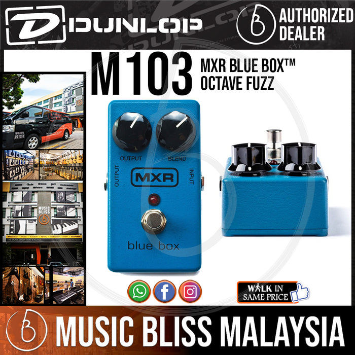 Jim Dunlop MXR M103 Blue Box Octave Pedal (M-103 / M 103) *Crazy Sales Promotion* - Music Bliss Malaysia