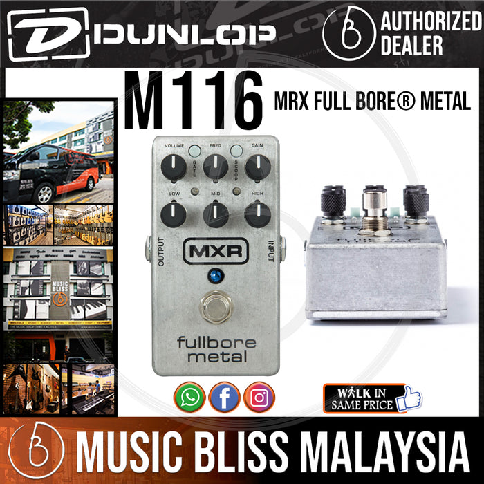 Jim Dunlop MXR M116 Fullbore Metal Distortion Pedal (M-116 / M 116) *Crazy Sales Promotion* - Music Bliss Malaysia