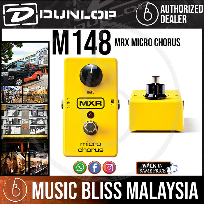 Jim Dunlop MXR M148 Micro Chorus Pedal (M-148 / M 148) *INSANE Sales Promotion* - Music Bliss Malaysia