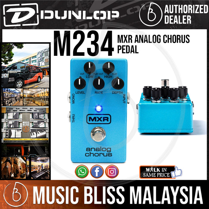 Jim Dunlop MXR M234 Analog Chorus Pedal (M-234 / M 234) *INSANE Sales Promotion* - Music Bliss Malaysia